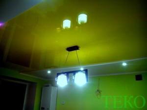 ТЕКО-потолок на кухню (лимонный цвет, глянец)