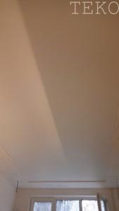 натяжной потолок белый мат