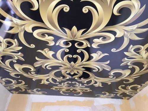 Натяжные потолки фотопечать. Мрамор