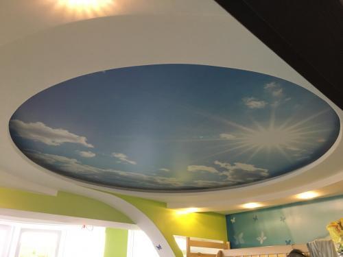 Освещение с натяжным потолком